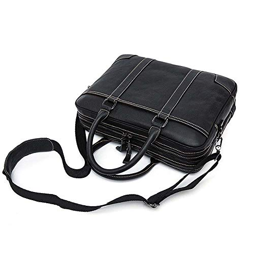 Slim Messenger Bag (Aihifly-bag Mannes Tablet für Unternehmen Aktentasche aus Leder Laptop-Handtasche Business Vintage Slim Messenger Bags (Farbe : Black Small))
