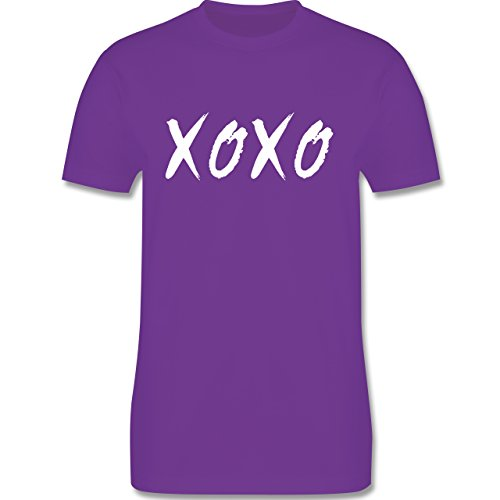 Statement Shirts - XOXO - Hugs and Kisses - Herren Premium T-Shirt Lila