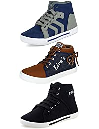 Ethics Combo Pack of 3 Casual Sneaker Shoes for Men