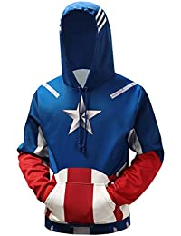 Felpe cappuccio America Felpe it senza Captain Amazon pnWtHAw