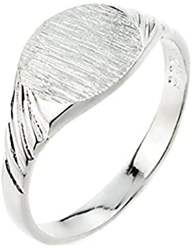 Kleine Schätze - Herren Ring / Verlobungsring / partnerring 925 Sterling Silber Zeichenet Siegelring Ring