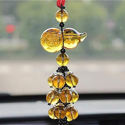 ckspiegel Kürbis Anhänger Kristall Auto Hängen Ornamente Fengshui Handwerk Innendekoration Zubehör ()