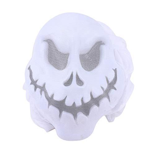 MOONRING Halloween Ghost Requisiten Gaze Schädel hängen faltbare Halloween Requisiten Skelett fliegen hängen unheimlich Dekoration, weiß