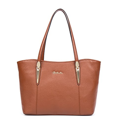 40129356645aa BOSTANTEN Handtaschen Damen Leder Umhängetasche Schultertasche Shopper  Tasche Grün Braun