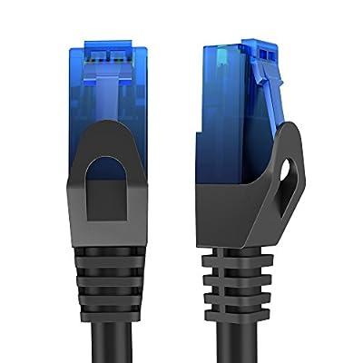 KabelDirekt Câble Réseau Local Ethernet Cat6 Gigabit (RJ45), UTP, Rétroactivement Compatible (Cat5, Cat5e), Noir - Top Series