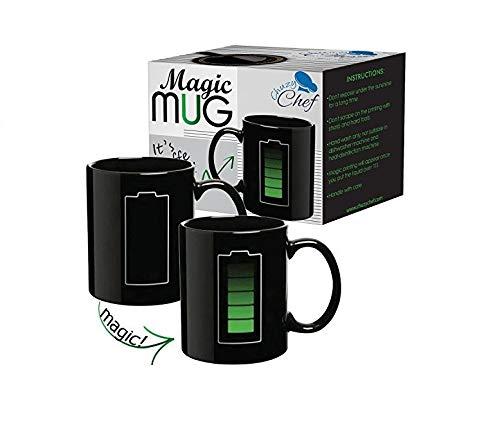 Magische Farbwechsel Tasse Thermoeffekt Kaffeetasse - Kaffee & Tee Einzigartige Tasse Batterie Geschenk für Mama Papa Freund Frauen Herren Farbwechseltasse Kaffeebecher Thermo Magic Mug Lustig