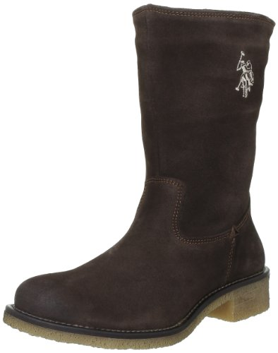 US Polo Assn - Stivali, Donna, Marrone (Marron (Dkbr)), 37