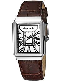 Pierre Cardin Herren-Armbanduhr Baron Analog Quarz Leder