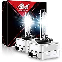 WinPower D1S 35W Xenon Ampoule Pk32d2 HID Xénon Phare Lampe décharge Remplacer Kit 12V Voiture 6000K Blanc Xtreme Vision (2 Ampoules)