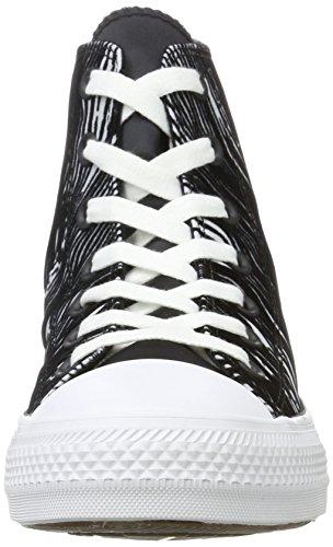 Converse Damen Chuck Taylor All Star Hohe Sneaker Mehrfarbig (White/Black/White)