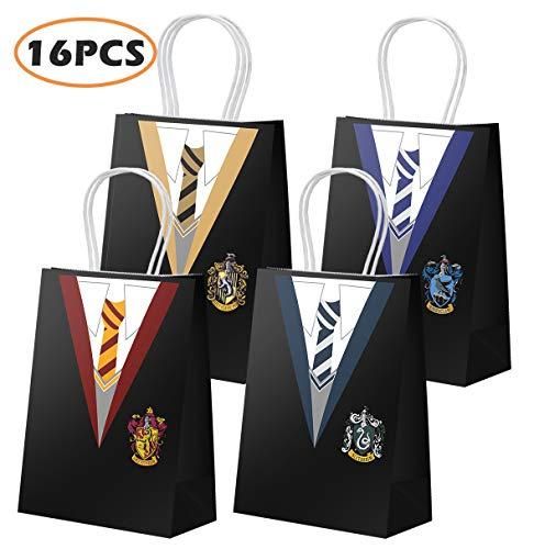 Party Geschenktüte für Harry Potter Party Dekoration, magische Zauberer Schule Party Favors Taschen mit Griff, Cosplay Party Treat Taschen für Kinder Boy Girl Birthday Party Supplies-16 PCS