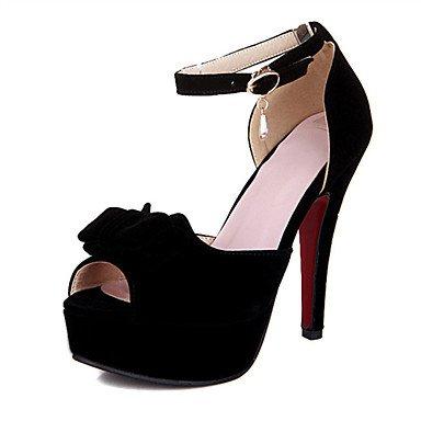 LvYuan Sandali-Tempo libero Formale Casual-Comoda Innovativo Club Shoes-A stiletto-Materiali personalizzati Finta pelle-Nero Rosso Beige Red