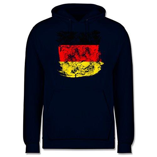 EM 2016 - Frankreich - Deutschlandflagge Pinsel - Männer Premium Kapuzenpullover / Hoodie Dunkelblau