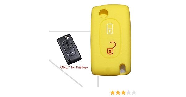 Schlüssel Cover Car Key Silikon Schutz Hülle für Peugeot 3008 208 2008 4008 508
