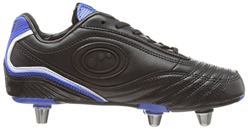 Optimum Blaze 3, Scarpe da Rugby Bambino Nero (Black/Blue)