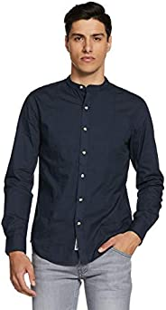 Amazon Brand - Inkast Denim Co. Men's Solid Slim Fit Full Sleeve Cotton Casual S