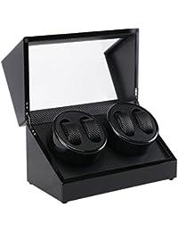 ZXZ-GO Caja eléctrica del reloj de la bobina eléctrica de la caja del motor eléctrico de la fibra del carbón de la pintura negra doble de la coctelera 4to
