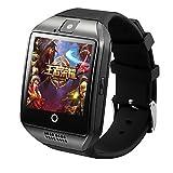 TR q18plus smartwatch android 5.1 mtk6572m 1.3g quad core 512mb 4gb avec gps wifi sim 3g téléphone intelligent pour Android iOS , black