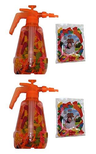 Speelgoed 2 Stück XL Wasserballonpumpe Wasserbomben-Füller inkl. Wasserballons 700 Stück