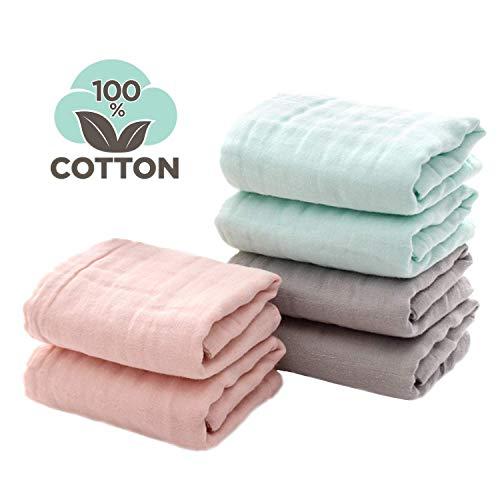 Panni per bambini per il bagno Set di mussole per neonato set di panni per bebe per pelli sensibili per neonati e bambini Perfect Baby Shower Gift di