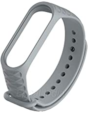 Epaal 3D Knurling Diamond Textured Flexible Band Strap for Xiaomi Band 3/4, Mi Band 3, Mi Band 4 (Grey)