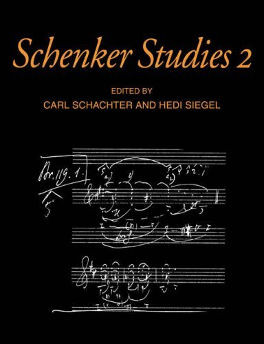 Schenker Studies 2 (Cambridge Composer Studies) by Carl Schachter (2008-08-21)