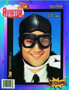 Casque d'aviateur avec lunettes à coques