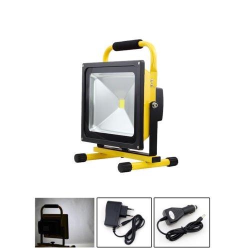 Preisvergleich Produktbild VINGO® LED Fluter 50w Baustrahler 4400MA Arbeitsleuchte handlampe Kaltweiss 4500LM Tragbare Strahler Wiederaufladbare laterne