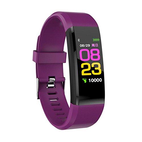 Bellelove Femmes Hommes Intelligent Électronique Poignet Gadgets Smart montre Bande Sommeil Sport Fitness Podomètre Bracelet Montre avec Coloré UI (Violet)