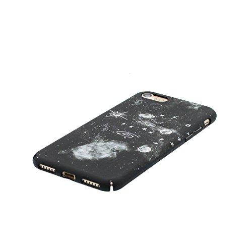 iPhone 6 Plus Copertura Cover, Durevole Shell TPU per le ragazze iPhone 6 Plus / 6S Plus Custodia Case 5.5 A prova di polvere - Stars Spazio Pianeti galassiali Nero