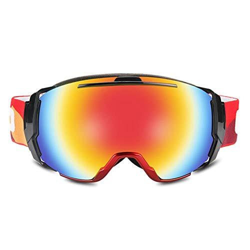 Chirsemey Skibrille Anti-Fog-Softschwamm Verstellbarer Gummiband Snowboard-Reitbrille Einzel- und Doppelbrett Coca Kurzsichtige Brille Für Kinder und Erwachsene. Pleasure