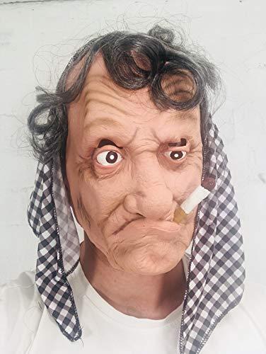 ANTIGUO GITANO Mujer Bruja Máscara LUJO látex Pañuelo