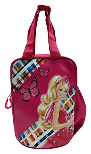 eSwaraa Barbie Lunch Box Bag for Kids and Girls For School (Pink) school lunch bag multipurpose bag barbie bag lunch small bag attractive bag school bag barbie  available at amazon for Rs.449