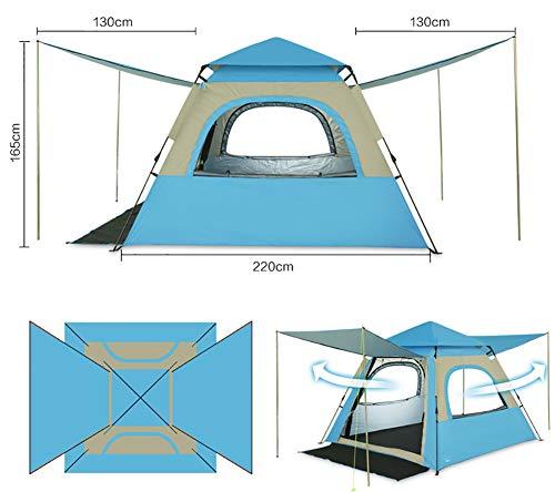 LZNK Schnellöffnungs-Automatikzelt Outdoor Doppel Camping Wasserdicht Pop-Up-Zelt für Familie 2-4 Personen -