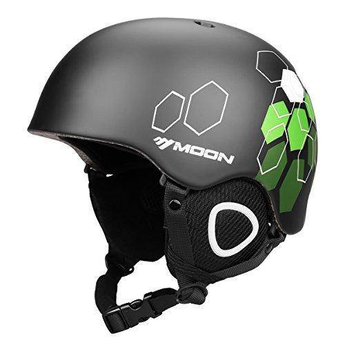 Mädchen Für Helm Snowboard (Moon, Unisex-Ski- und Snowboard-Helm für Erwachsene, ultra leicht L 1#)