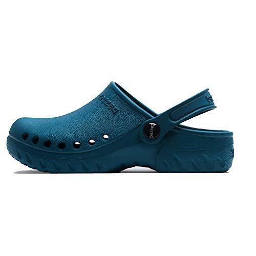Unisex Retro Sandalen Hausschuhe Männer Clogs geschlossene zehen Hohle Schuhe Anti Slid tragen widerstandsfähig atmungsaktive Schuhe für Chef Arzt Arzt -