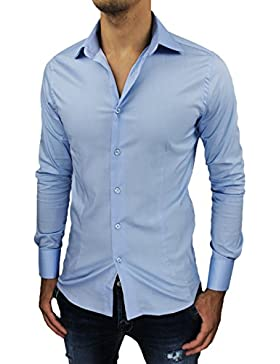 Camicia uomo Sartoriale celeste slim fit aderente nuova casual elegante