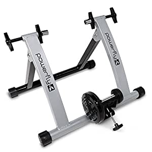 Powerfly Folding Bike Cycle Magnetic Turbo Trainer for Indoor Workout - Silver