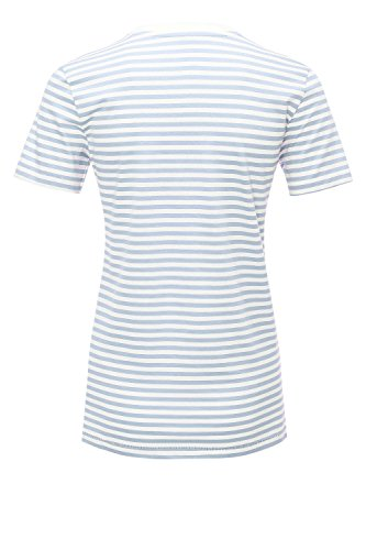 SELECTED FEMME Damen T-Shirt SFMY Perfect SS Tee-Box Cut-Stri. NOOS Snow White/Xenon Blue