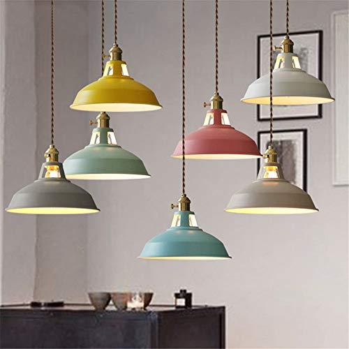 Luminaires suspendus modernes à LED Luminaires multicolores de la salle à manger Suspension Luminaire Restaurant Suspensions de la cuisine Luminaires Lustres Loft jaune