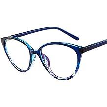 Mymyguoe Vidrios opticos Gafas polarizadas para Mujer Gafas con Montura de Espejo Vintage con Montura de