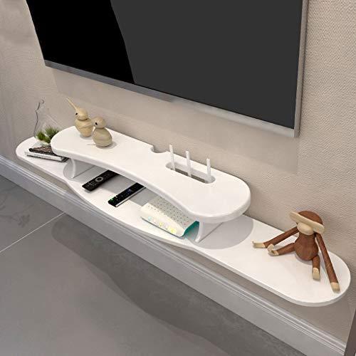 Schwimmendes Regal Schlafzimmer Wohnzimmer Wandregal Wand-TV-Schrank Set Top Box Router Projektor Spiel Ausrüstung Lagerregal Weiß (größe : 120cm) -