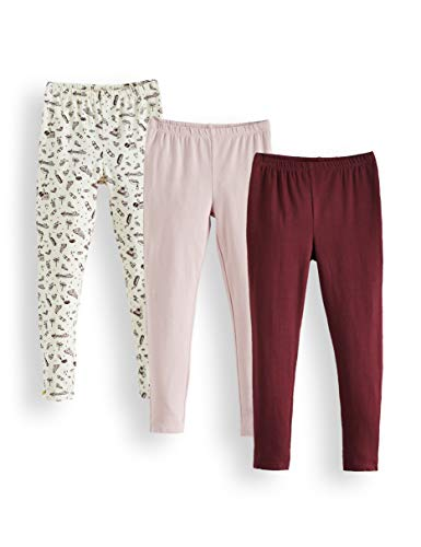 RED WAGON RED WAGON Mädchen Leggings 3er pack , Mehrfarbig (Cream, Lilac And Burgundy) RWG-004 , 104 (Herstellergröße: 4)