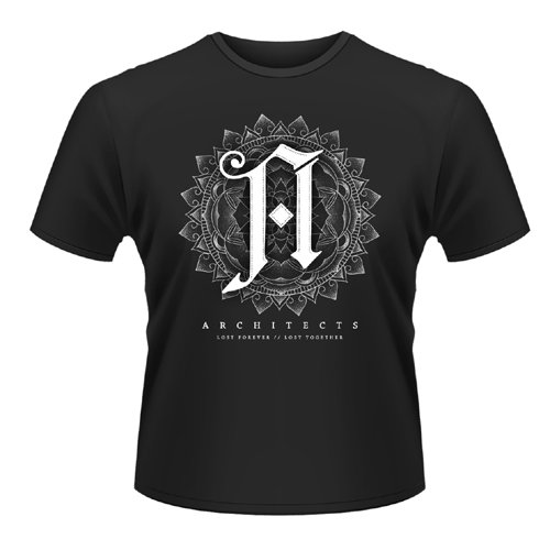 Playlogic International(World) - Architects Mandala, T-shirt da uomo,  manica corta, collo a listino, nero(black), XL