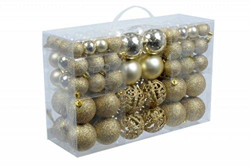 Christmas Gifts–Bolas de Navidad, plástico, plástico, dorado, 100x