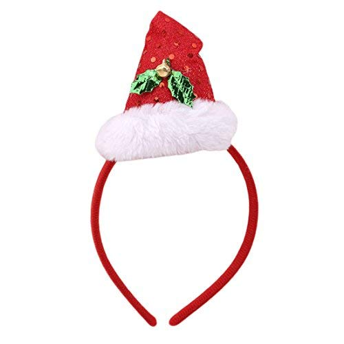 (Arteki Accessory Lovely Mini Peaked Hat Santa Hat Headband Christmas Dress Costumes Accessory Christmas Birthday Gift for Children)