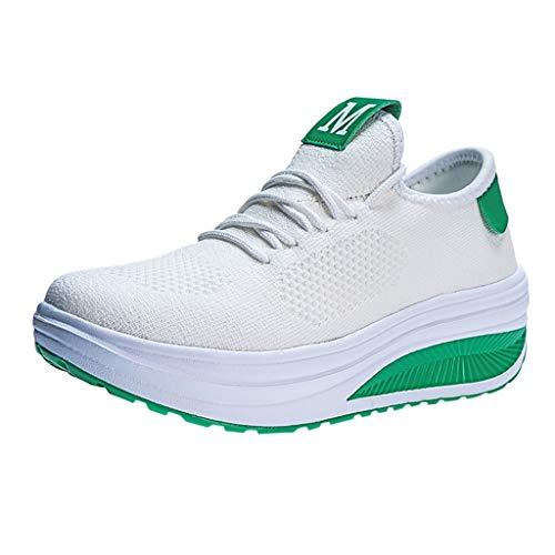 ┃BYEEEt┃ Scarpe da Ginnastica Donna Corsa Sportive Fitness Running Mesh Calzino Sneakers Basse Interior Casual All'Aperto Gym Altezza Aumentare Shoes Nero