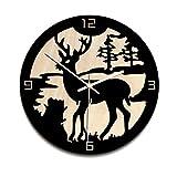 Comeyang Orologio da Parete Muto Design retrò Orologio da Parete Decorazione,Orologio da Parete Decorativo, Soggiorno, Legno Bianco 12 Pollici