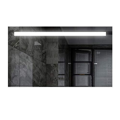Miroirs LED De Salle De Bains Tenture Murale Anti-buée De Salle De Bains avec Lumière Salle De Bains Salle De Bains Lampe (Color : Silver, Size : 60 * 80 * 3cm)