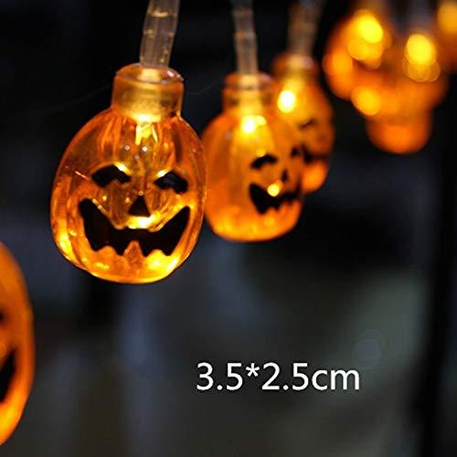 JIAENY 10 LED Hängende Halloween Dekor Kürbisse/Ghost/Spider/Schädel LED Lichterketten Laternen Lampe Für DIY Home Outdoor Party Supplies,1